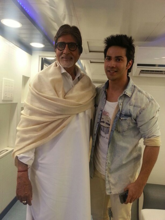 Varun Dhawan's special moment with Big B