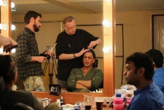 Greg Cannom and Shah Rukh Khan