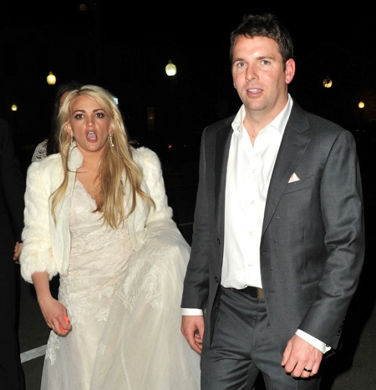 Britney Stuns In Silver Dress At Sister's Wedding