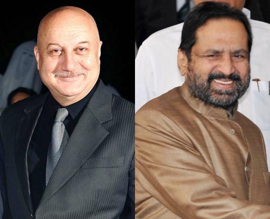 Anupam Kher and Suresh Kalmadi