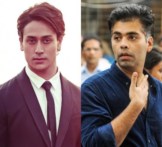Tiger Shroff and Karan Johar