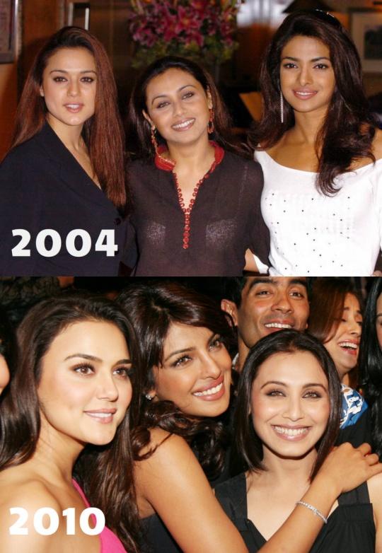 Preity Zinta, Rani Mukerji and Priyanka Chopra