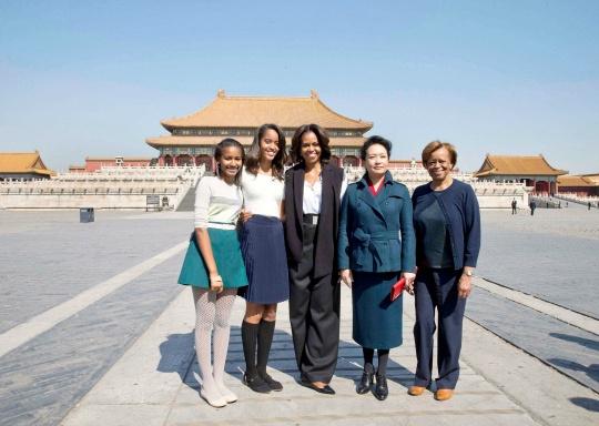 Michelle Obama Tours Beijing's Forbidden City