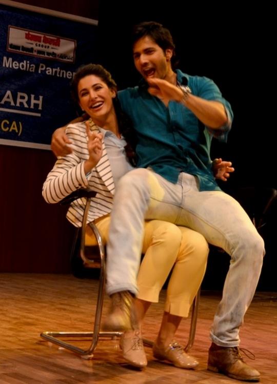 Varun Dhawan and Nargis Fakhri in Chandigarh