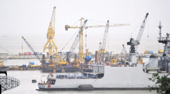 Naval Dockyard in Mumbai