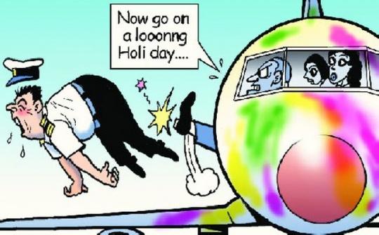 SpiceJet Holi Celebrations