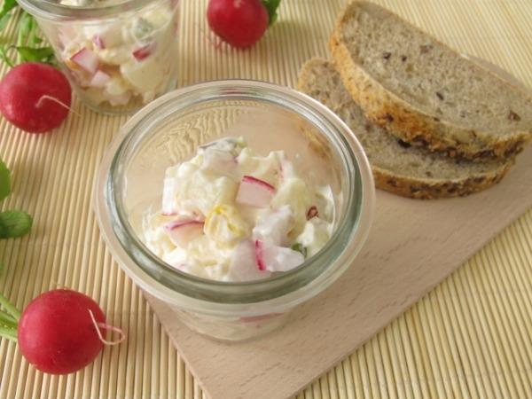 Healthy Snack: Herbed Yogurt Salad Sandwich