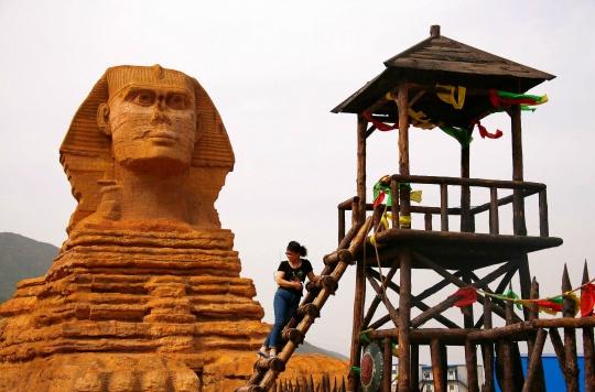 Fake Giza Sphinx