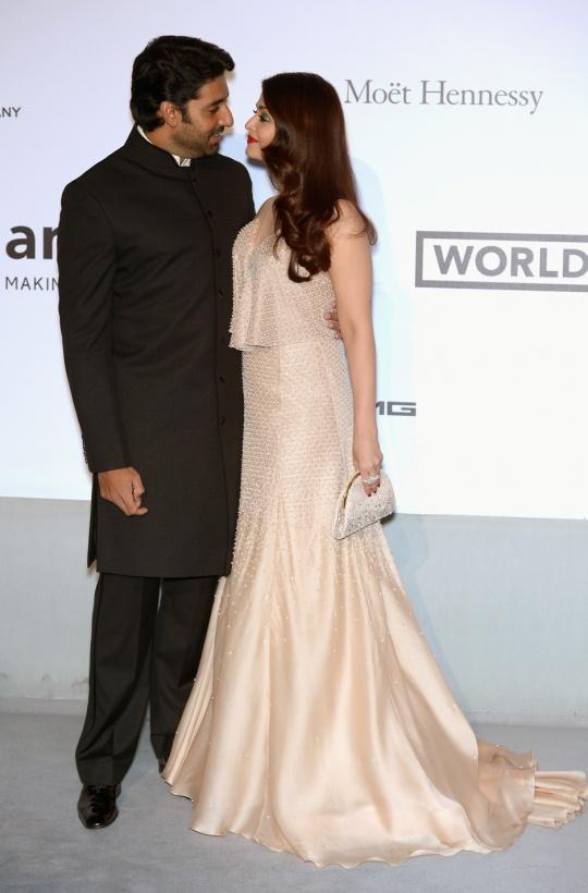 Abhishek Bachchan and Aishwarya Rai Bachchan at Cannes 2014