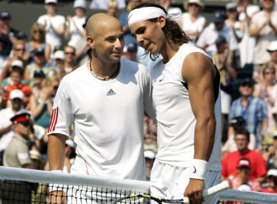 Agassi and Nadal