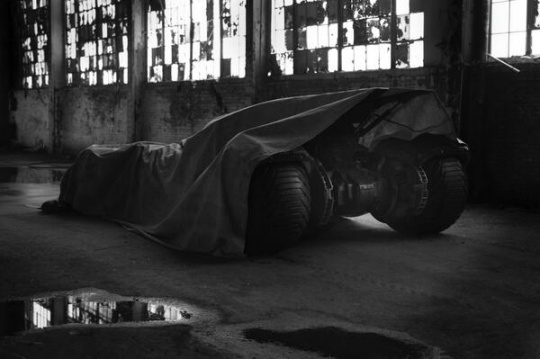 The Batmobile in Batman vs Superman