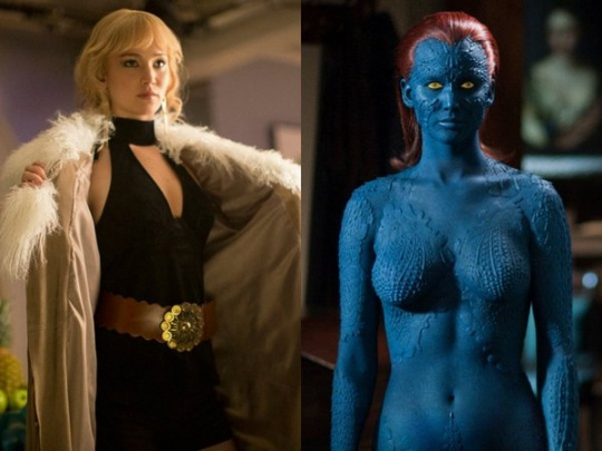 Jennifer Lawrence as Mystique in X-Men: Days of Future Past