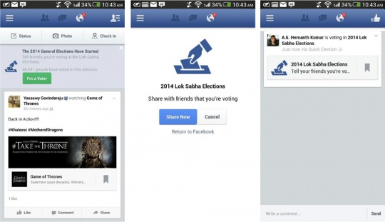 Facebook's 'I'm A Voter' Feature to Go Global