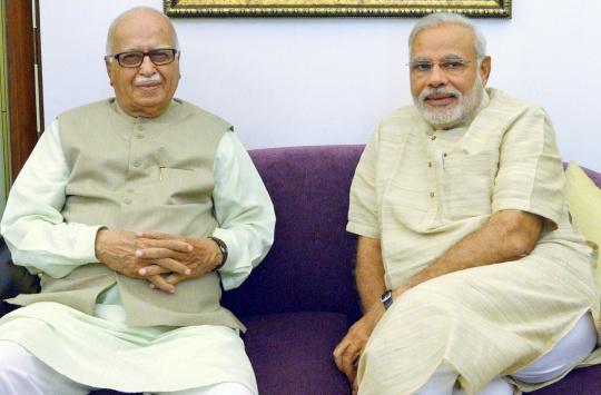 L K Advani, Narendra Modi