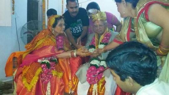 ND Tiwari gets married