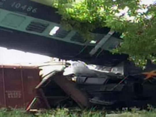 Gorakhdham Express collides with stationary goods train in UP