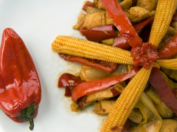 Soy Baby Corn Stir-Fry
