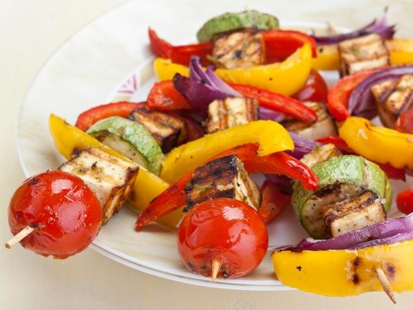 Healthy Party Snack: Zero-Oil Vegetable Kebabs