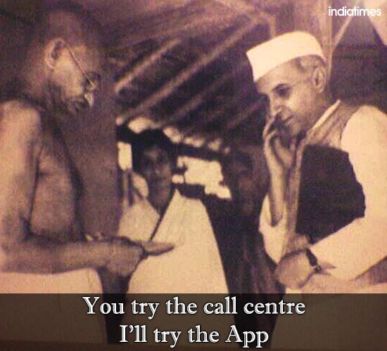 Gandhi nehru funny