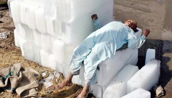 Chilling in Pakistan ice