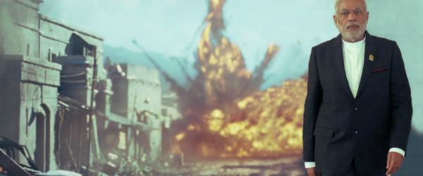 explosions walk away modi