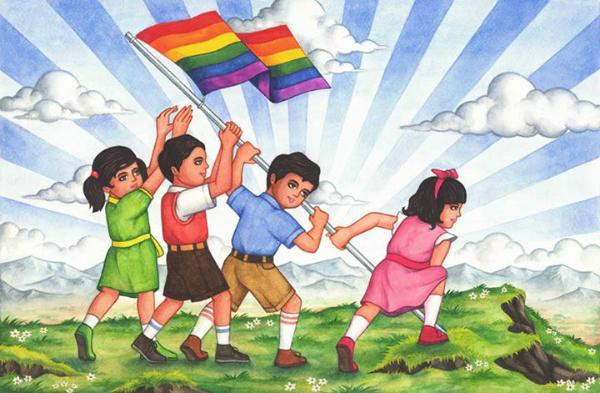 Adarsh Balak gay flag