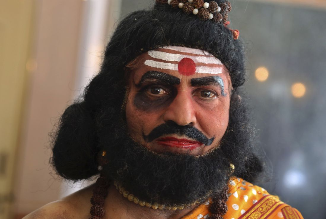 Man dressed a sadhu