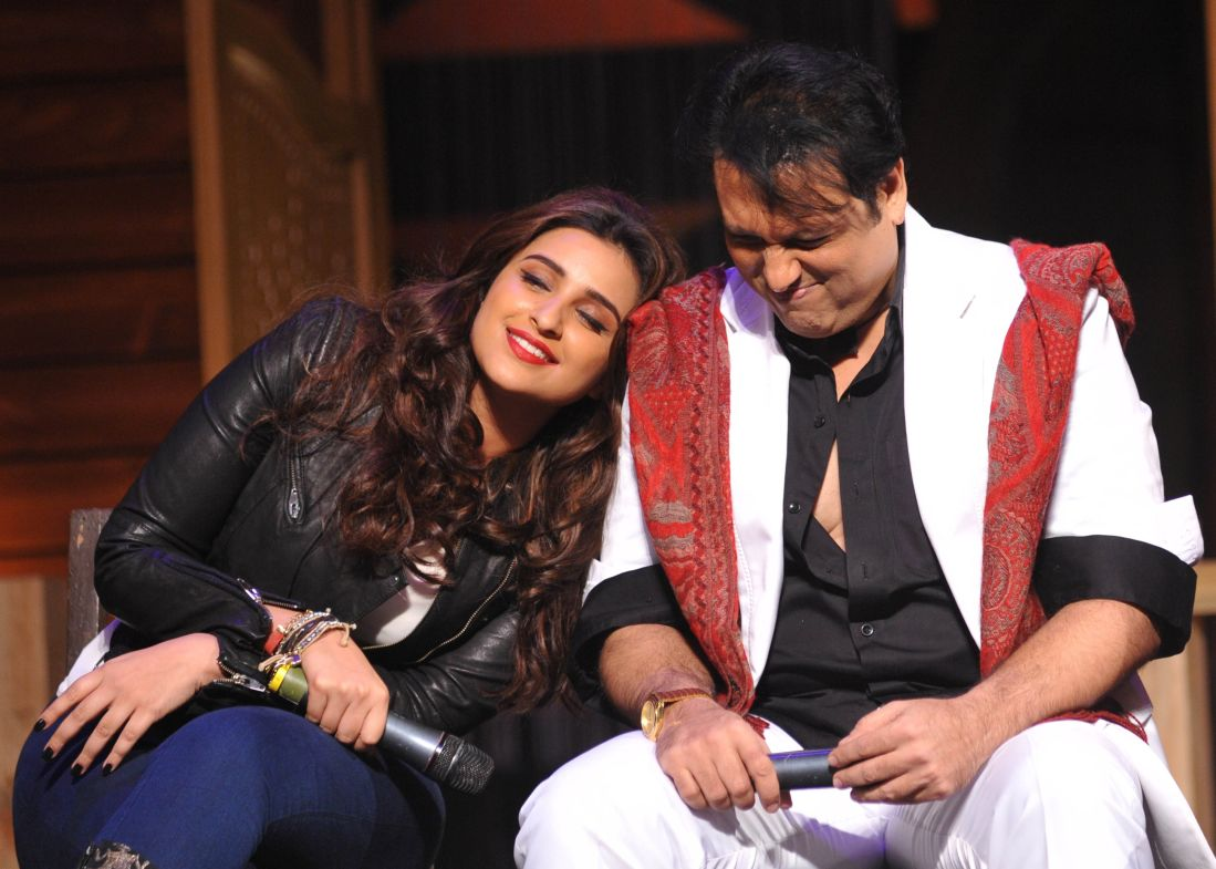 Parineeti Chopra and Govinda pose during the promotion Kill/Dil