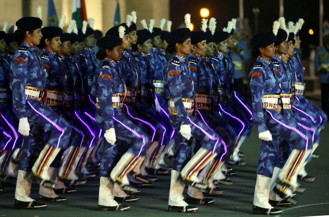 CRPF women marching