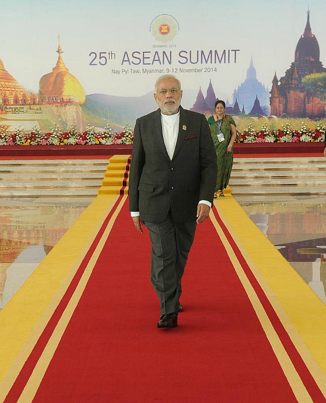Narendra Modi arriving at Asean Summit