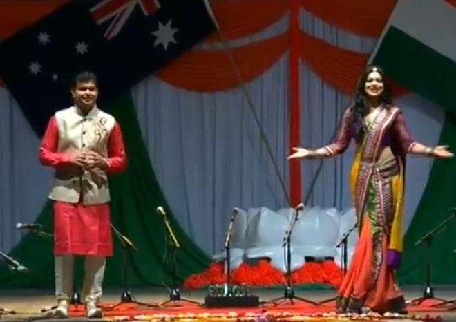 Rashi Kapoor and Siddharth Trivedi hosting Modi's gala speech in Sydney