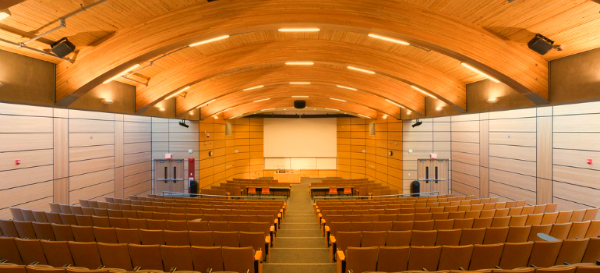 lecture hall with LED