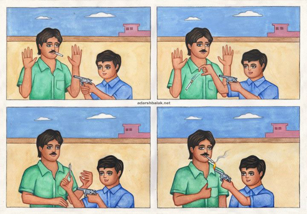 Adarsh Balak weed cigarette