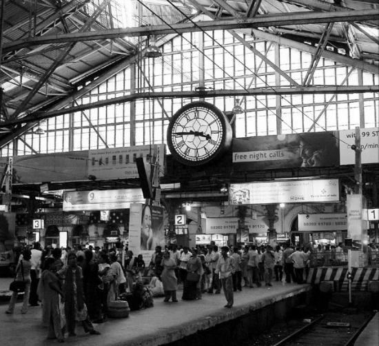 Indian train station clock