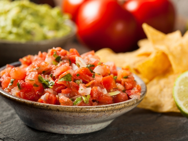 Healthy Snack Recipe: Layered Mexican Dip