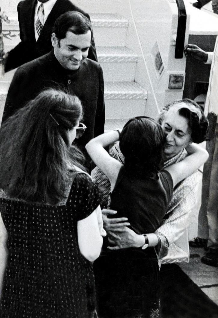 Indira Gandhi and Rajiv Gandhi