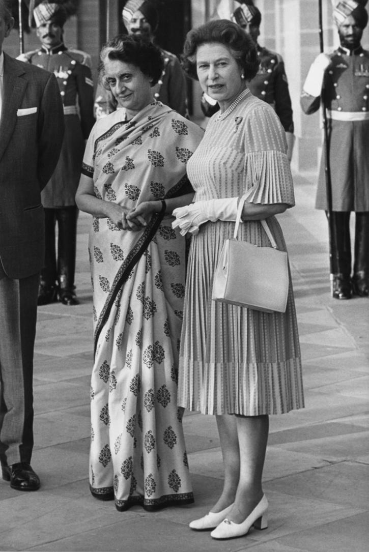 Indira Gandhi and Queen Elizebeth