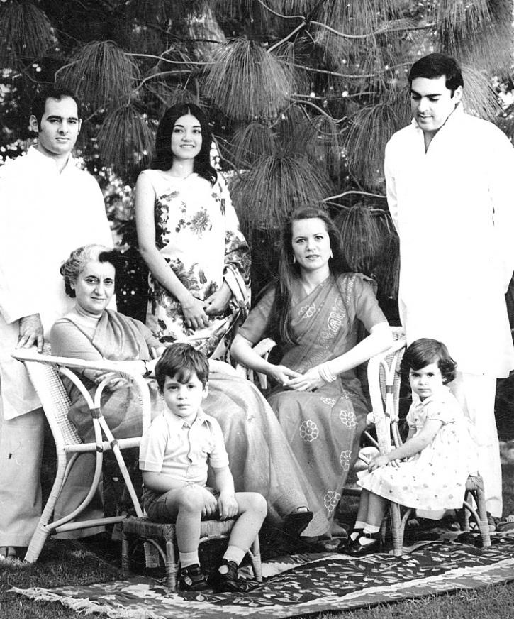 Indira Gandhi with family