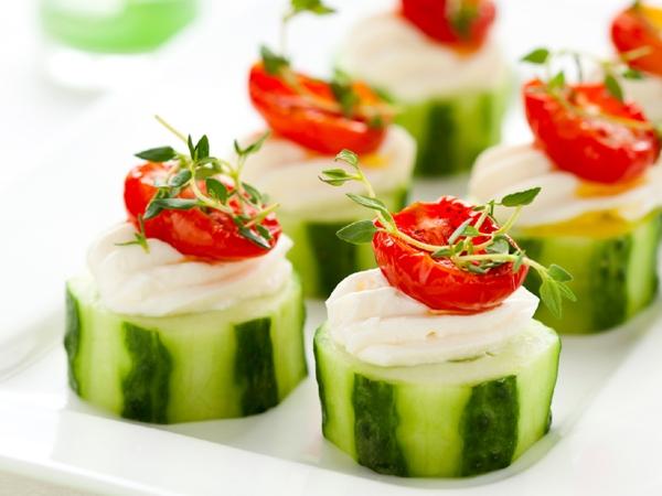Healthy Snack: Herbed Cucumber Slices