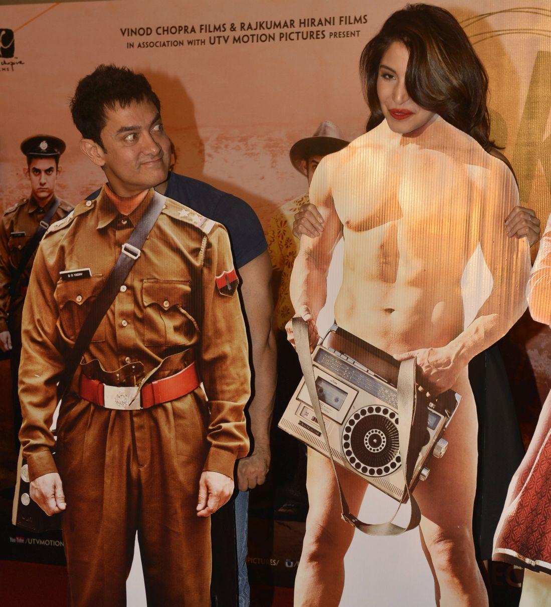 Aamir Khan and Anushka Sharma at PK trailer launch