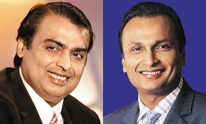 Anil Ambani and Mukesh Ambani