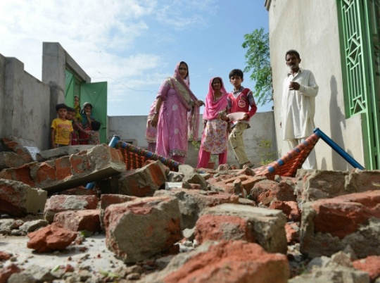 Sialkot home destroyed
