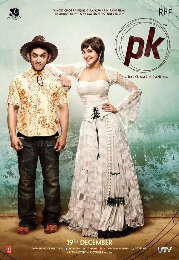 Anushka Sharma and Aamir Khan in PK