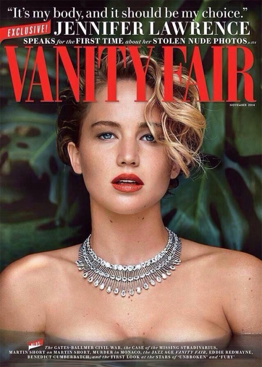 Jennifer Lawrence on the cover of Vanity Fair