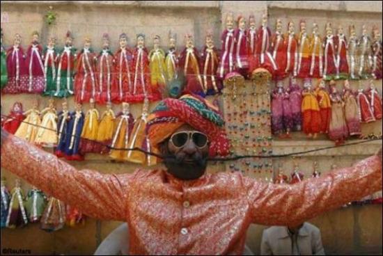 indian long moustache