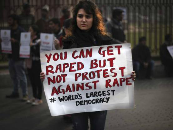 Rape protester india