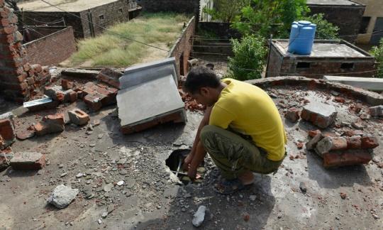 Pakistani home destroyed