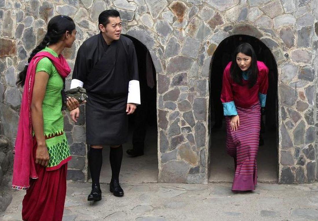 Bhutan's King Jigme Khesar Namgyel Wangchuck and Queen Jetsun Pema in Chandigarh
