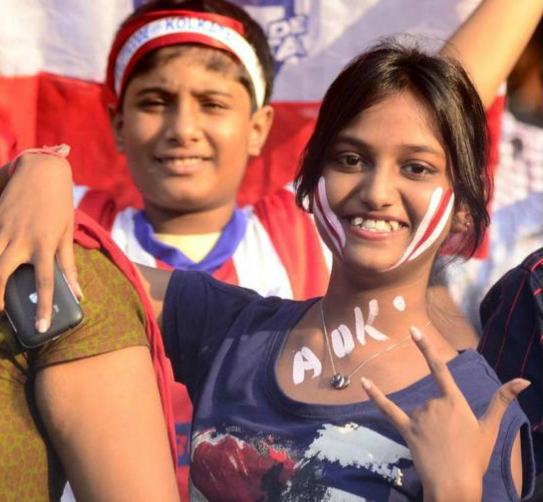 Atletico De Kolkata fans during the Indian Super League