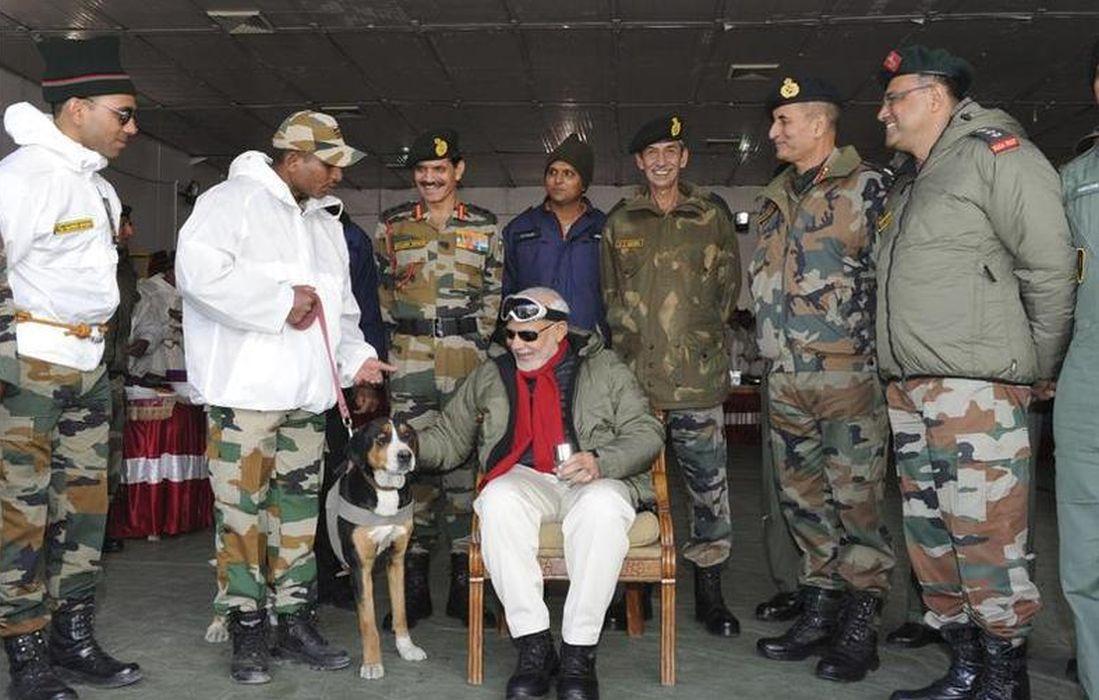 Narendra Modi in Siachen